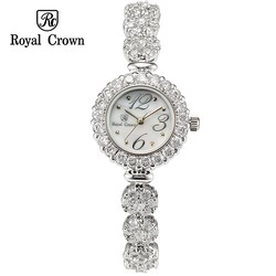 Ảnh số 49: Diamond fashion jewelry bracelet ladies watch Royal Crown 3804 - Giá: 2.507.000