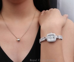 Ảnh số 68: Royal crown watches female bracelet watch rhinestone gold 1514B - Giá: 2.142.000