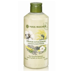 Ảnh số 1: Gel tắm Yves Rocher Cotton Flower Mimosa Relaxing Bath And Shower Gel