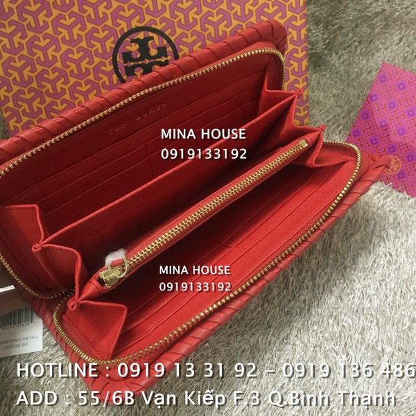 Ảnh số 14: TORY BURCH MARION MULTI-GUSSET ZIP CONTINENTAL WALLET  ( Hàng authentic NO FAKE ) - Giá: 2.400.000