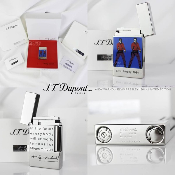 Ảnh số 24: S.T. DUPONT ANDY WARHOL - ELVIS PRESLEY LIMITED EDITION - Giá: 19.000.000