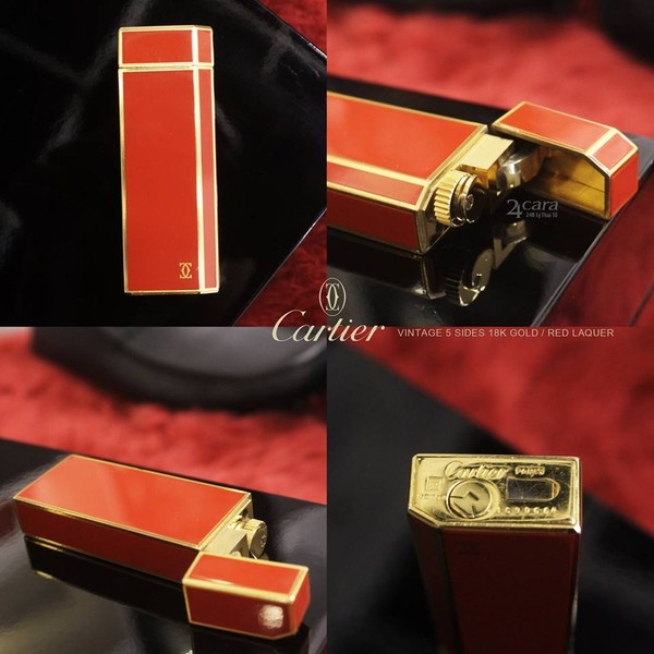 Ảnh số 28: Cartier 5 Sides Vintage 18k Gold Red Laquer - Giá: 6.300.000
