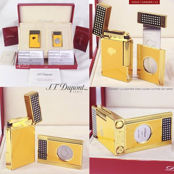 Ảnh số 40: S.T. Dupont Cohiba L2 Lighter & Cigar Cutter Set Limited Edition - Giá: 42.000.000