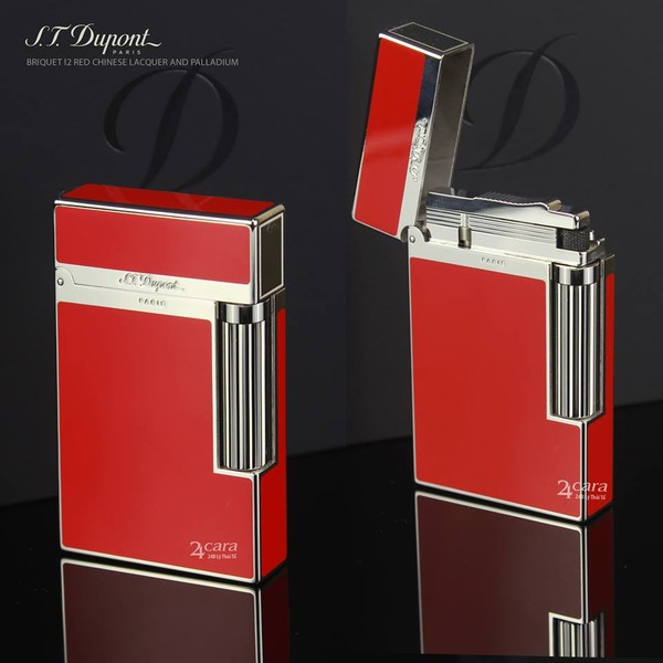 Ảnh số 44: S.T. Dupont Briquet L2 Red Chinese Lacquer And Palldium - Giá: 15.500.000