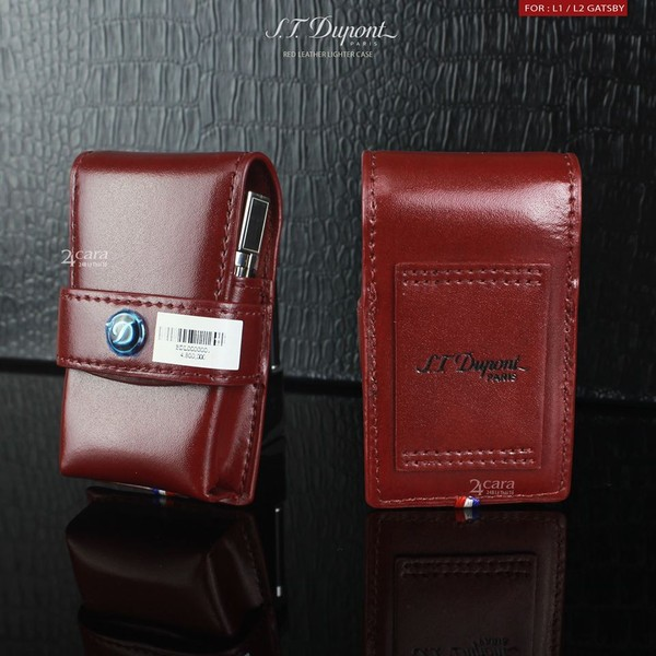 Ảnh số 53: S.T. Dupont Red Leather Lighter Case - Giá: 4.800.000