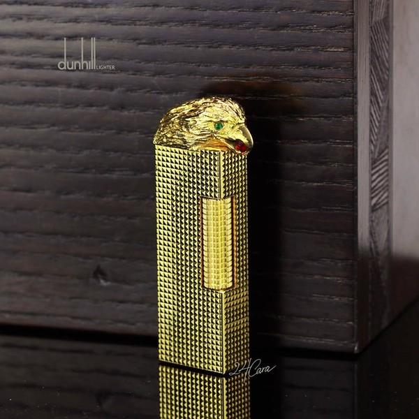 Ảnh số 57: Dunhill 1970'S Limited Edition Gold Plated Hobnail Design With Eagle On Lid Lighter - Giá: 15.500.000