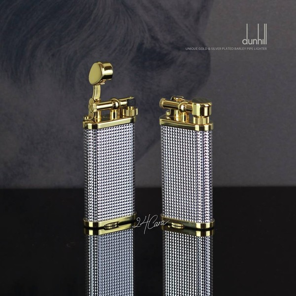 Ảnh số 58: Dunhill Unique Gold & Silver Plated Barley Pipe Lighter - Giá: 6.500.000