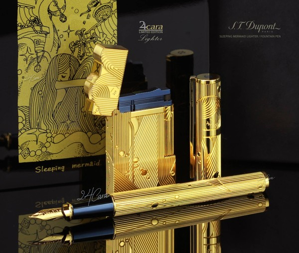Ảnh số 64: S.T. Dupont Sleeping Mermaid Limited Edition / Fountain Pen / Lighter - Giá: 74.000.000