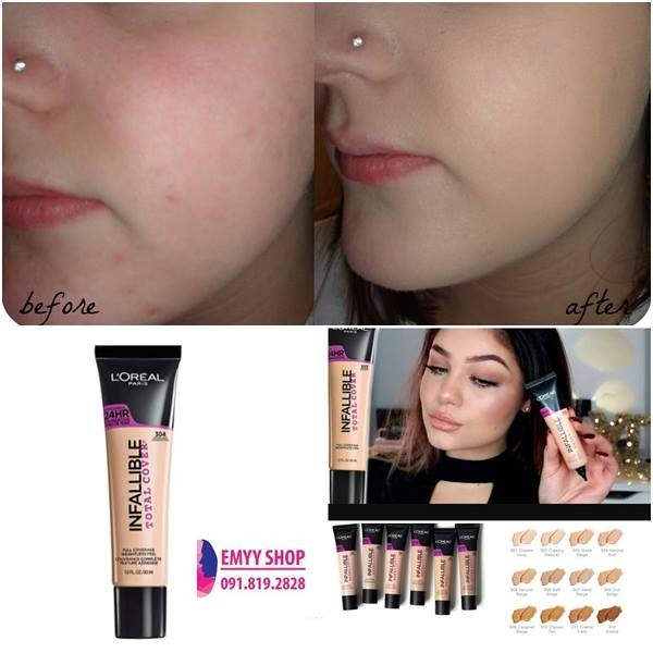Ảnh số 6: Kem nền L'OREAL INFALLIBLE TOTAL COVER FOUNDATION - Giá: 195.000