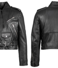 Áo khoác da nữ Balenciaga Black Leather Zip up Motorcycle