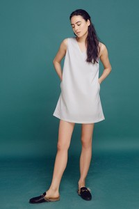 Đầm v neck dress tbw50601160fs61