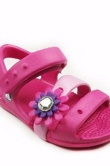 Crocs Girls Keeley Petal Charm Sandal