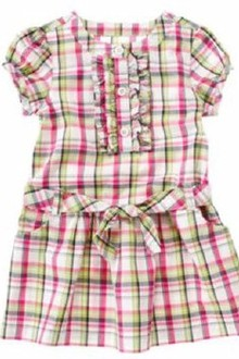 Áo đầm CRAZY Ruffle Plaid Shirt Dress