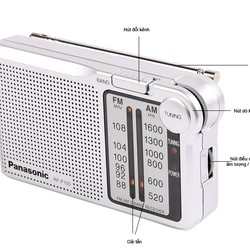 Đài Radio FM.AM Panasonic RF P150BATGA Indonesia
