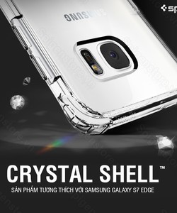 Ốp lưng spigen galaxy s7 edge crystal shell