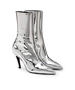 Giày boots nữ Balenciaga Talon Mirrored Leather Ankle