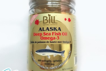 Dầu cá hồi số 1 ALASKA, deep sea fish oil omega 3 1000mg Bill Natural Sources