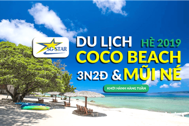 Tour CocoBeach Camp Mũi Né Resort 3 , 4 3N2Đ