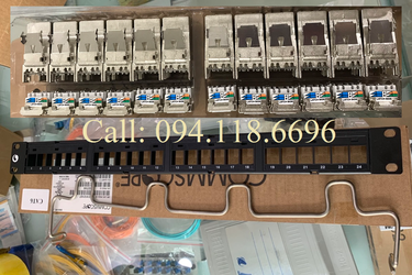 Patch Panel CAT6A AMP Commscope chống nhiễu, 24 port mã 1933319 2