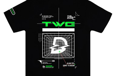 DSW Tee World Game Green Black