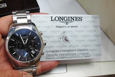 Longines Conquest Classic Chronograph 6 kim Automatic fullbox hộp số thẻ bảo hành