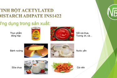 Tinh bột biến tính Acetylated Distarch Adipate INS1422