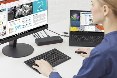 Dock Lenovo Thinkpad Hybrid 40AF0135US , USB Type A with USB Type C