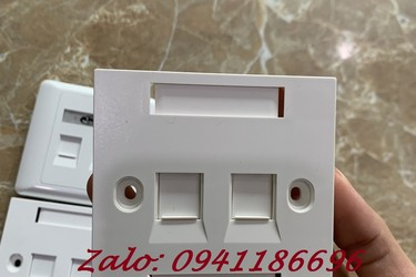 Mặt 2 Port Wallplate CommScope/AMP Face Plate 1859050 1 mặt nạ vuông